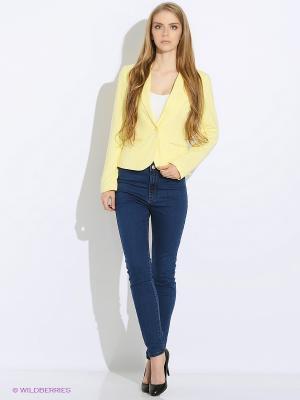 Пиджак Oodji. Цвет: желтый