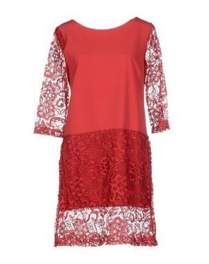 Короткое платье DANIELA FARGION. Цвет: красный
