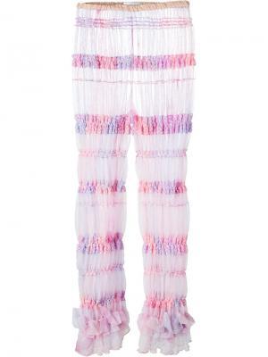 Тюлевые леггинсы свободного кроя Ryan Lo. Цвет: розовый и фиолетовый