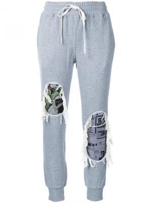 Спортивные брюки Maison Mihara Yasuhiro. Цвет: серый
