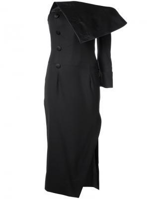 Вечернее платье без бретелек Monse. Цвет: чёрный