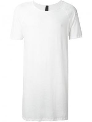 Удлиненная футболка Odeur. Цвет: белый