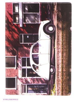 Обложка для паспорта Ретро-автомобиль Mitya Veselkov. Цвет: белый, темно-красный, коричневый