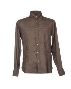 Pубашка GUGLIELMINOTTI. Цвет: темно-коричневый