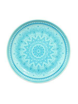 Набор тарелок десертных  6 шт TONGO. Цвет: светло-голубой, бирюзовый
