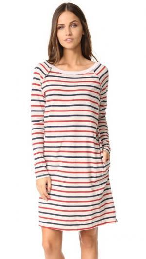 Платье в полоску с длинными рукавами Stateside. Цвет: коричневый