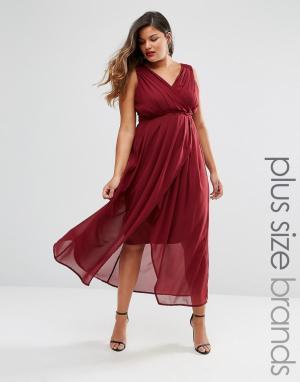 Praslin Платье макси с запахом спереди Plus. Цвет: красный