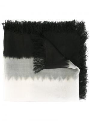 Шарф с бахромой Suzusan. Цвет: чёрный