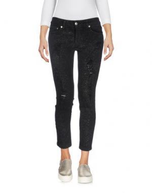 Джинсовые брюки-капри - -ONE > ∞. Цвет: черный