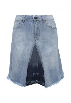 Юбка джинсовая Diesel. Цвет: голубой