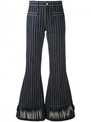 Полосатые расклешенные брюки  LAutre Chose L'Autre. Цвет: синий