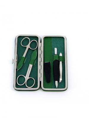 Маникюрный набор GD. Цвет: зеленый