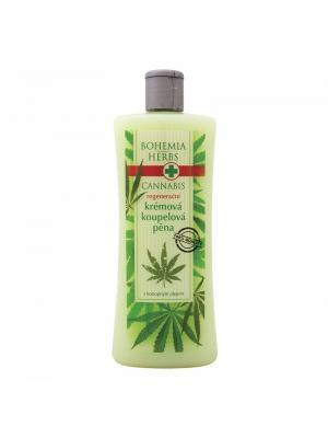Пена для ванны с конопляным маслом Cannabis BOHEMIA. Цвет: светло-зеленый