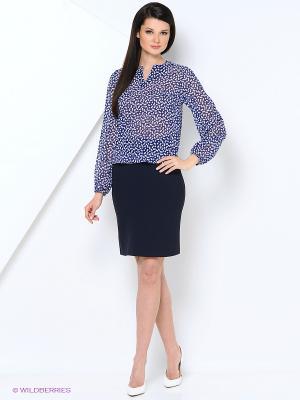 Блузка Samirini. Цвет: синий, белый