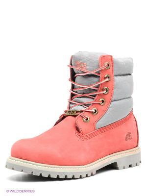 Ботинки Patrol. Цвет: коралловый, серый