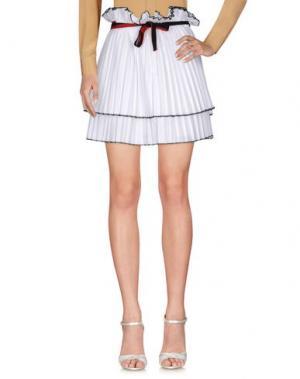 Мини-юбка AKEP. Цвет: белый
