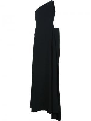 Вечернее платье на одно плечо Brandon Maxwell. Цвет: чёрный