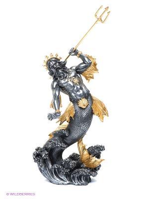 Статуэтка Посейдон - Бог морей Veronese. Цвет: темно-серый, золотистый