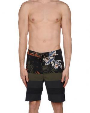 Пляжные брюки и шорты RIPCURL. Цвет: зеленый-милитари