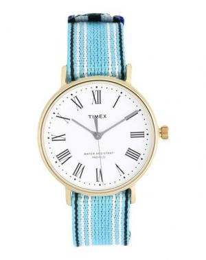 Наручные часы TIMEX. Цвет: небесно-голубой