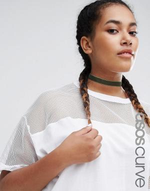 ASOS Curve Классическое бархатное ожерелье-чокер. Цвет: зеленый