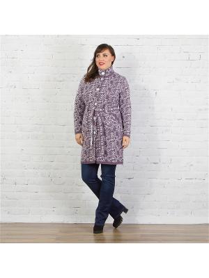 Пальто женское Верона, NEO Style Dorothy's Нome. Цвет: белый, сиреневый