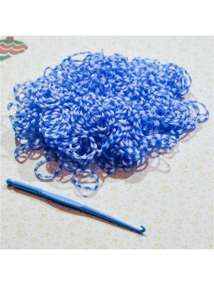 Резинки для плетения 300 резинок крючок Loom Bands. Цвет: голубой