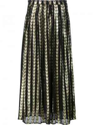 Длинная плиссированная юбка Dodo Bar Or. Цвет: металлический