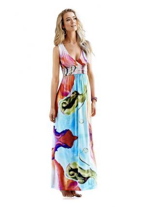 Платье макси Rick Cardona. Цвет: цветной