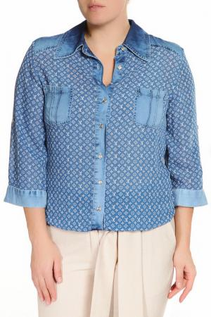 Блузка RAVEL. Цвет: синий