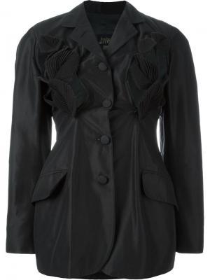 Пиджак с аппликацией в виде листьев Jean Paul Gaultier Vintage. Цвет: чёрный