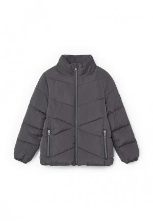 Куртка утепленная Mango Kids. Цвет: серый