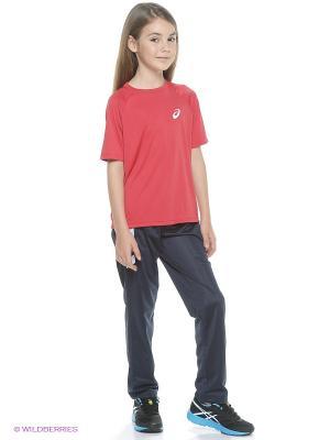 Футболка Club Short Sleeve Tee ASICS. Цвет: красный