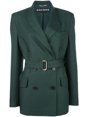 Объемный пиджак Rochas. Цвет: зелёный