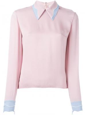 Блузка Kahlo Roksanda. Цвет: розовый и фиолетовый