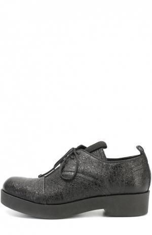 Ботинки из фактурной кожи Baldan. Цвет: черный