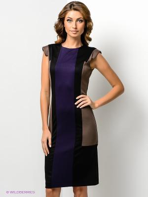 Платье МадаМ Т. Цвет: фиолетовый, темно-бежевый, черный