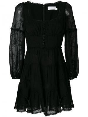 Платье Lovelorn Zimmermann. Цвет: чёрный