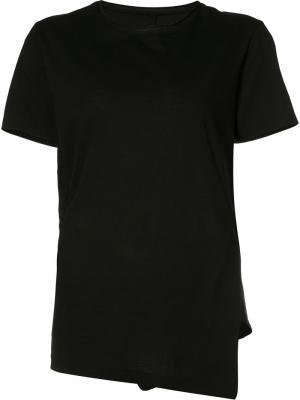 Асимметричная футболка Forme Dexpression D'expression. Цвет: чёрный
