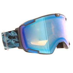 Маска для сноуборда  Crew Nw Icon + Bonus Lense Midnight Smoke Defcone Blue Mirror I/S Eyewear. Цвет: синий,голубой