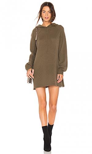 Платье-толстовка gemma 360CASHMERE. Цвет: оливковый