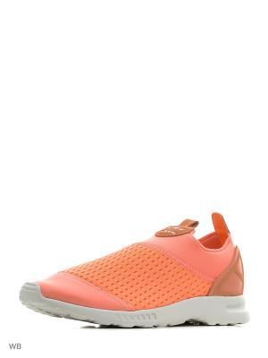 Кроссовки-слипоны Wmns ZX Flux ADV Smooth Slip On Adidas. Цвет: оранжевый
