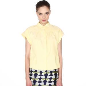 Блузка с короткими рукавами PEPALOVES. Цвет: желтый