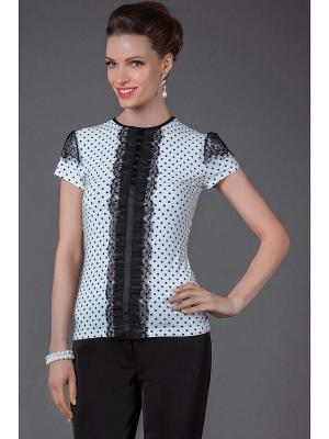 Блузы Арт-Деко. Цвет: белый, черный