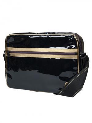 Сумка с отделением для ноутбука Continent. Цвет: черный, темно-коричневый