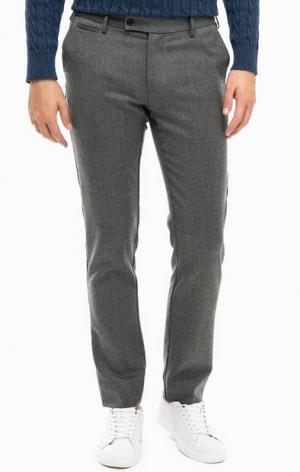 Серые брюки с высоким содержанием шерсти Gant. Цвет: серый