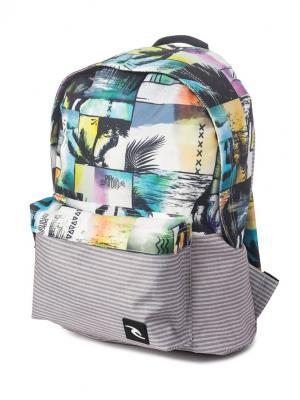 Рюкзак  T2T WASHOUT DOME Rip Curl. Цвет: серый, голубой, белый