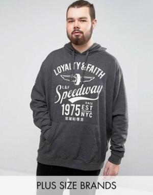 Loyalty & Faith Худи and PLUS. Цвет: серый