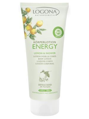 Energy Лосьон для тела с Лимоном и Имбирем Logona. Цвет: белый