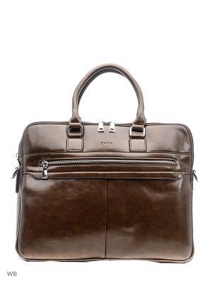 Портфель EVITA. Цвет: коричневый